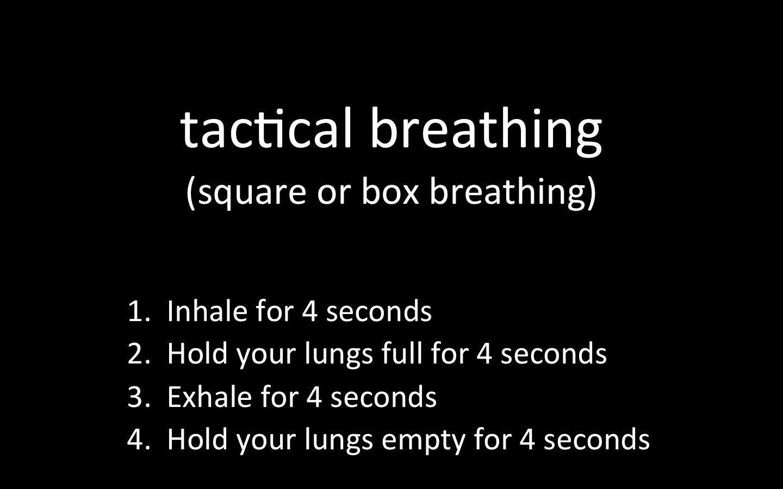 tactical breathing ストレスと戦うための呼吸法
